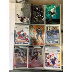 BINDER OF 100+ HOCKEY CARD COLLECTION CONTAINING STARS AND INSERTS
