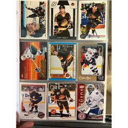 BINDER OF 100 VANCOUVER CANUCKS HOCKEY CARDS
