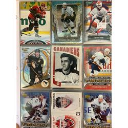 BINDER OF APPROX 100 HOCKEY CARDS, STAR PLAYERS, INSERTS