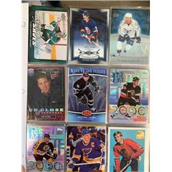 BINDER OF 100+ HOCKEY STAR PLAYER CARD COLLECTION