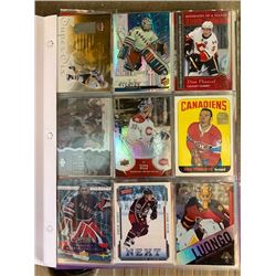 BINDR OF 100+ STAR PLAYER AND INSERT HOCKEY CARDS