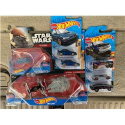 STAR WARS HOT WHEELS PACKS AND RARE CARS