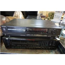 TECHNICS AND JVC COMPANT DISC PLAYER AND RECEIVER