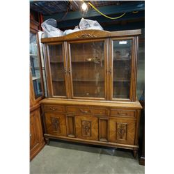2PC KNECHTEL CHINA CABINET