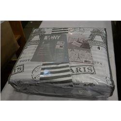 VCNY KING DUVET 5PC REVERSABLE BED SET