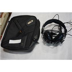 RAZOR HEADPHONES AND POWER BAG