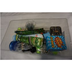 CLEAR TOTE OF VAPE ACCESSORIES