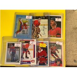 LOT OF MONTREAL CANADIENS STAR AND ROOKIE CARDS