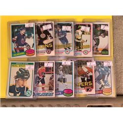 VINTAGE OPEECHEE HOCKEY STAR PLAYER AND ROOKIE CARD LOT
