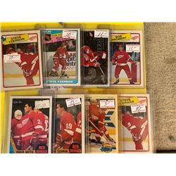 VINTAGE LOT OF DETROIT RED WINGS STAR AND ROOKIE CARDS