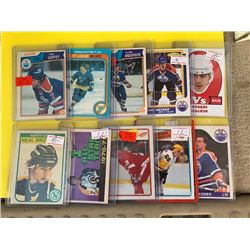 HOCKEY CARD COLLECTION OF STAR PLAYERS AND ROOKIE CARDS