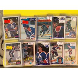 LOT OF EDMONTON OILERS VINTAGE OPEECHEE STAR AND ROOKIE CARDS