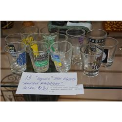 13 SAYINGS SHOT GLASSES MANCAVE MANDATORY RETAIL $130