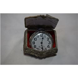CARAVELLE MECHANICAL POCKET WATCH IN SILVER JEWELLERY BOX