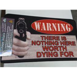 Warning Door Mat