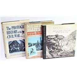 Collection of 3 reference books includes The Photographic History of the Civil War, Mathew Bradies I