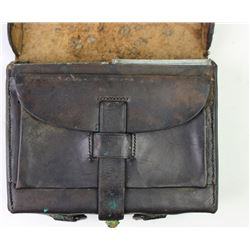 Original US leather cartridge box maker marked R. Nece Philadelphia with sub inspector stamped F.A.