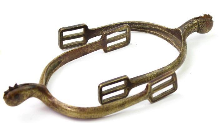 1885 Brass Cavalry Spurs w// rowels New