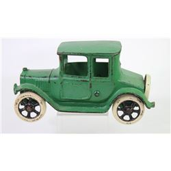 "Antique cast iron toy Ford Coupe with original paint, 8"" X 5"", completely original with exception of"