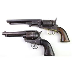 """Collection of 2 antique Colt Copies or Bravettes includes SA .44 cal. 4 7/8"""" barrel Spanish 2 line a"""