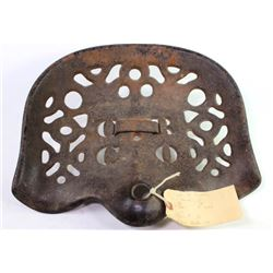 Antique cast iron OR Co (Ohio Rake Co) implement seat, very good with NO breaks or repairs.implement