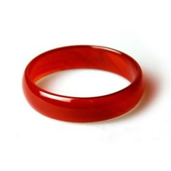 Natural Chinese Red Jade Bangle