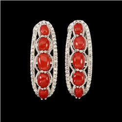 Natural Italian Red Coral Earrings