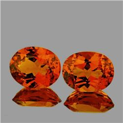 NATURAL CINNAMON ORANGE HESSONITE GARNET PAIR