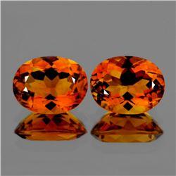 Natural  AAA Madeira Golden Orange Citrine Pair
