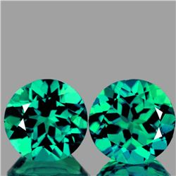 Natural Paraiba Green Blue Apatite Pair 6.5 MM - VVS