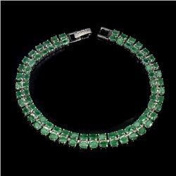 Natural Rich Green Emerald 98.27 Cts Bracelet