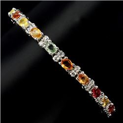 Natural Fancy Colors Sapphire 46.96 Ct Bracelet