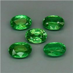 Natural Green Tsavorite Garnet Tanzania 5Pcs/2.76Ct