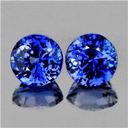 Natural AAA Royal Blue Rare Benitoite Pair - Flawless