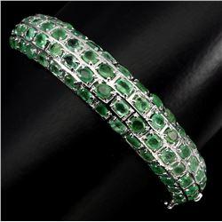 Natural  Top Rich Green Emerald 118.28 CT Bangle