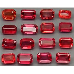 Natural Imperial Red Sapphire 20Pcs/3.81Ct.