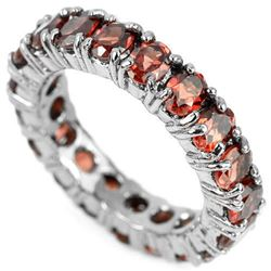 NATURAL AAA DARK ORANGE RED GARNET Ring