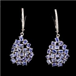 Natural Untreated Blue Tanzanite 4x3 MM Earrings