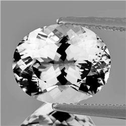 NATURAL DIAMOND WHITE AQUAMARINE 10x8 MM