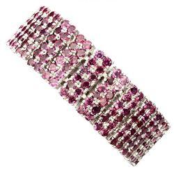 Natural Stunning Raspberry Rhodolite Garnet Bracelet
