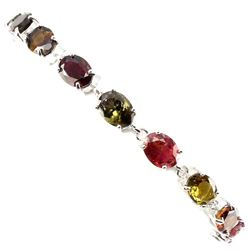 Natural  Fancy Colors Tourmaline Bracelet