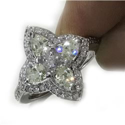 Amazing 3.52 Ct Lab Diamond Ring