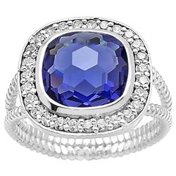 BEAUTIFUL 4.7 CT VIOLET BLUE TANZANITE RING