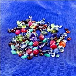 DAZZLING HUGE 111 CTW LOT OF MIXED COLOR GEMSTONES