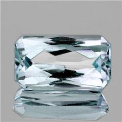 NATURAL VERY LIGHT BLUE AQUAMARINE 10.5x6 MM - FL