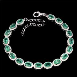 Natural Columbian Emerald Bracelet