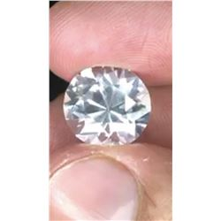 NATURAL COLORLESS WHITE SAPPHIRE 10.20 CT - VVS