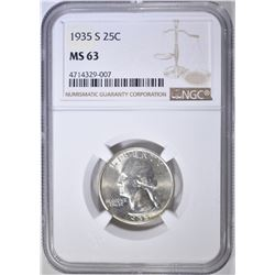 1935-S WASHINGTON QUARTER  NGC MS-63