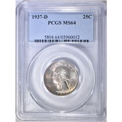 1937-D WASHINGTON QUARTER  PCGS MS-64