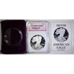 1989-S AMERICAN SILVER EAGLE  PNA PR-70